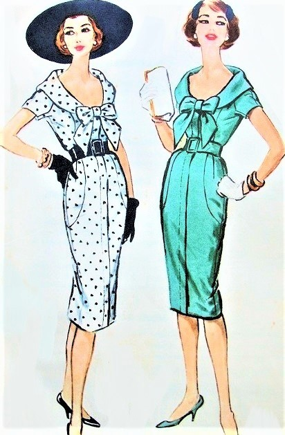 FANTASTIC Luis Estévez 1950s Wiggle Dress Pattern McCALLS A-2 Exclusive Dress Pattern For Quaker Oats Company Figure Hugging Sheath Dress Day or Cocktail Party Vintage Sewing Pattern FACTORY FOLDED