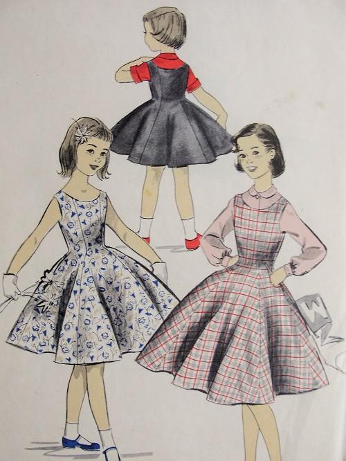 dfece6942d174 Vintage 1950s PRETTY Childs Blouse and Jumper or Dress Advance ...