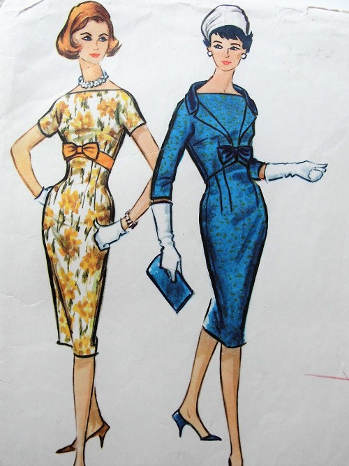 1950s STUNNING Sheath Dress and Jacket Pattern McCALLS 5023 Cocktail After 5 Dress, Bateau Neckline, Figure Flattering Design Bust 34 Vintage Sewing Pattern