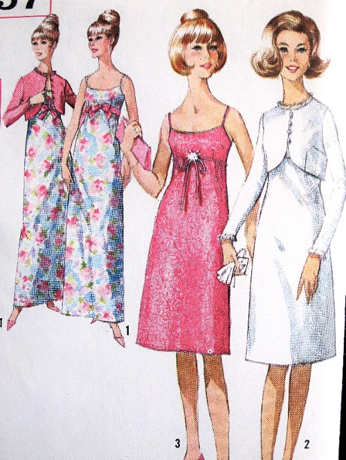 1960s LOVELY Evening Party Prom Dress and Jacket Pattern SIMPLICITY ...