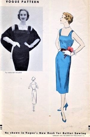 1950s RARE Vogue 7101 SHEATH Dress Pattern Vogues New Book For Better Sewing Bust 30 Vintage Sewing Pattern FACTORY FOLDED