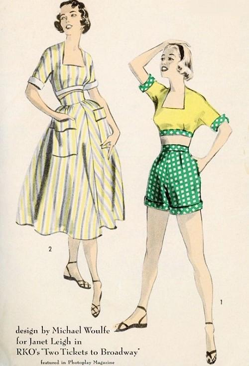 1950s Rare Beach Weekend Resort Wear Pattern Advance 5850 Vintage ...