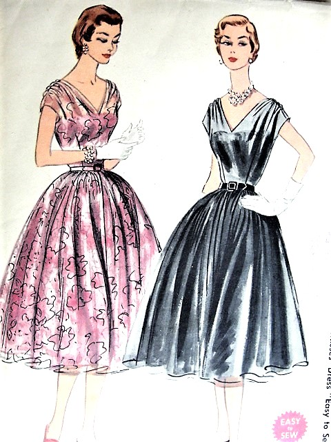 1950s BEAUTIFUL Party Evening Dress Pattern McCALLS 3154 Easy To Sew ...