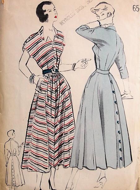 1950s STYLISH Dress Pattern Butterick 4806 Bust 32 Vintage Sewing ...