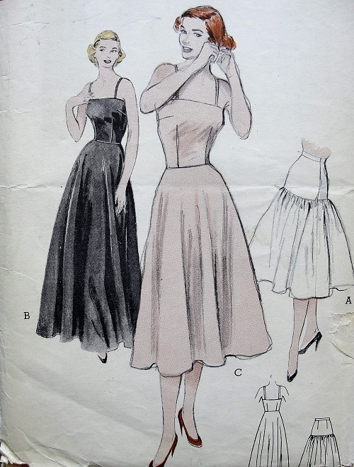 1950s GORGEOUS Evening  and Day Slips Pattern BUTTERICK 5933 Long and Short Slip Bouffant Petticoat Bust 34 Vintage Sewing Pattern