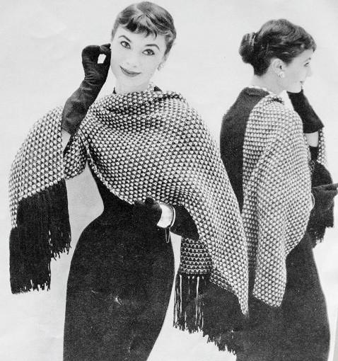 Instant Pdf Pattern 1950s Vintage Knitting Crochet Pattern Elegant