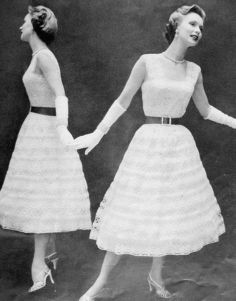 INSTANT PDF PATTERN 1950s Vintage Crochet Pattern Beautiful Lacy ...