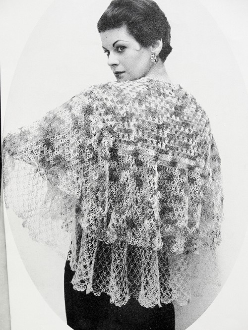 INSTANT PDF PATTERN 1950s Vintage Crochet Pattern Lacey Large 1930s Style Shawl Stole Wrap Scarf Perfect For Day or Evening Wedding