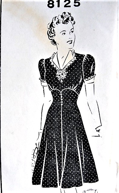 1940s PRETTY Corset Style High Waist Dress Pattern Mail Order 8125 ...