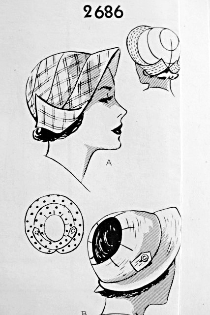 1950s Fabulous Hats Pattern Two 1930s Inspired Styles Cloche Or Sun
