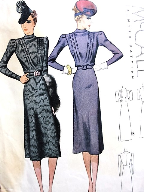 1930s LOVELY Dress Pattern McCALL 3049 Bust 36 Vintage Sewing Pattern