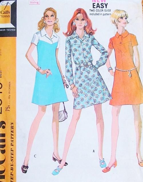 1970s RETRO Dress Pattern McCalls 2345 Three Style Versions Vintage ...