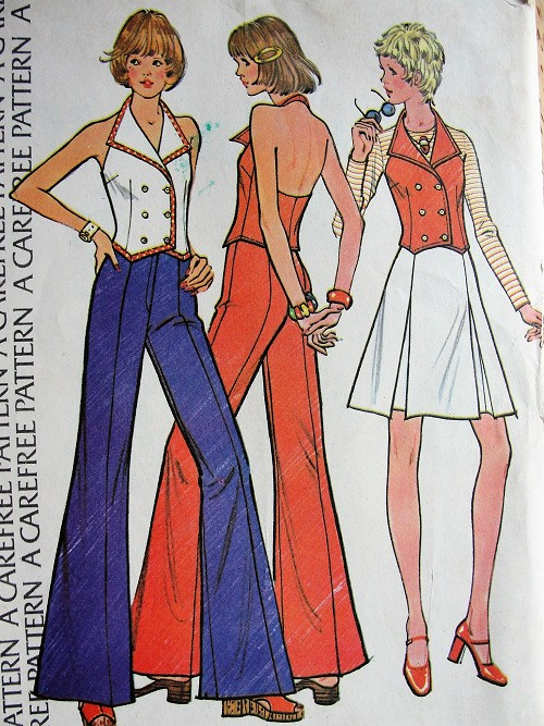 Vintage 1970s STYLISH Vest, Skirt, and Pants McCall's 3570 Retro Sewing Pattern Bust 38