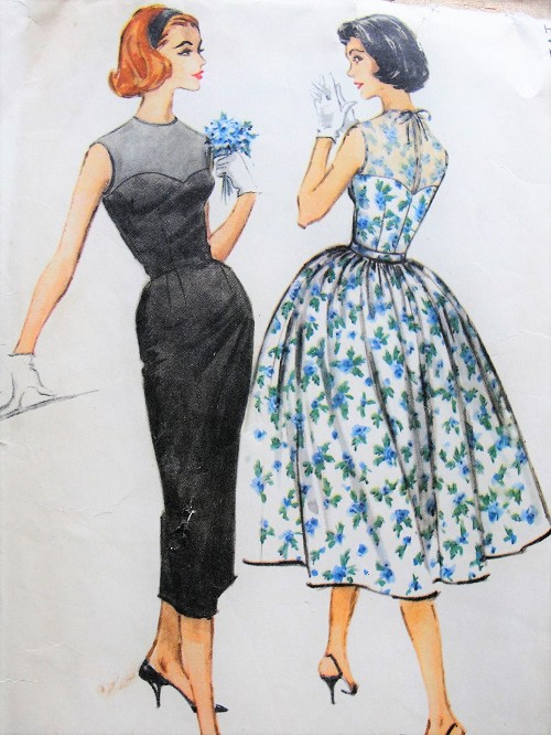 1950s LOVELY Sleeveless Evening Dress with Slim or Full Skirt McCall's 4557 Sewing Pattern Bust 34
