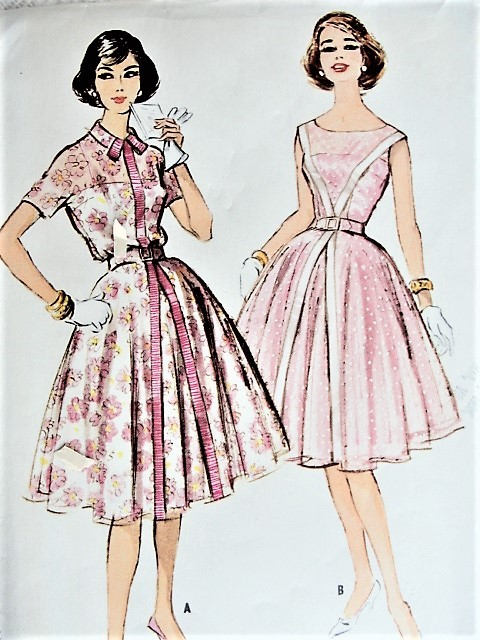Vintage 1950s CHIC Dress in Two Styles McCall's 4991 Sewing Pattern Bust 32
