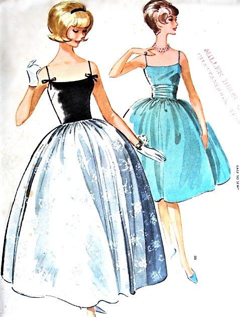 1960s DREAMY Party Prom Dress Gown Pattern McCALLS 6108 Camisole Top ...