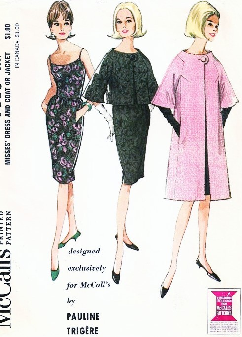 1960s ELEGANT Pauline Trigere Cocktail Dress, Jacket and Coat ...
