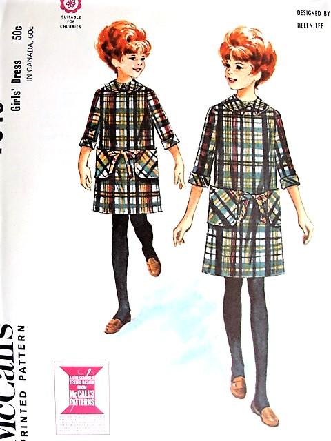 1960s Girls HELEN LEE Designer Dress Pattern McCALLS 7949 Cute ...