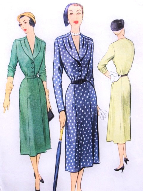 1950s LOVELY Dress Pattern McCall 8316 Classic Fifties Day Dress Bust 30 Vintage Sewing Pattern FACTORY FOLDED