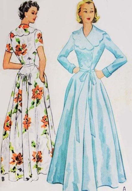 1950s GLAMOROUS Robe Hostess Gown Pattern McCalls 9173 Lovely ...