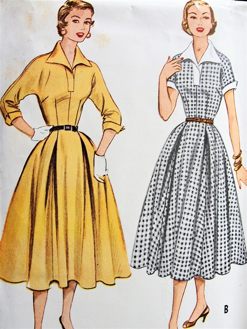1950s LUCY Dress Pattern McCALLS 9612 So I Love Lucy Style Dress, Beautifully Fitted Bodice Full Skirted Dress Bust 31 Vintage Sewing Pattern