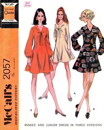1960s CUTE Dress Pattern McCalls 2057 Vintage Sewing Pattern Kawaii ...