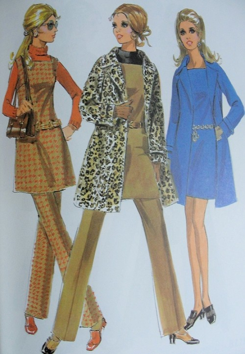 MOD 60s McCalls 2059 Vintage Sewing Pattern 60s Wardrobe Wrap Coat ...