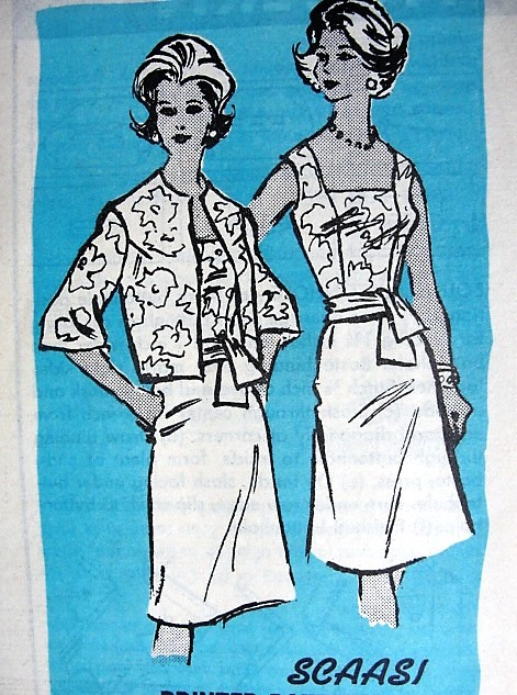 1960s CHIC Cocktail Party Dress and Jacket Pattern PROMINENT Designer 664 Lovely Design by Scaasi Bust 34 Vintage Sewing Pattern FACTORY FOLDED