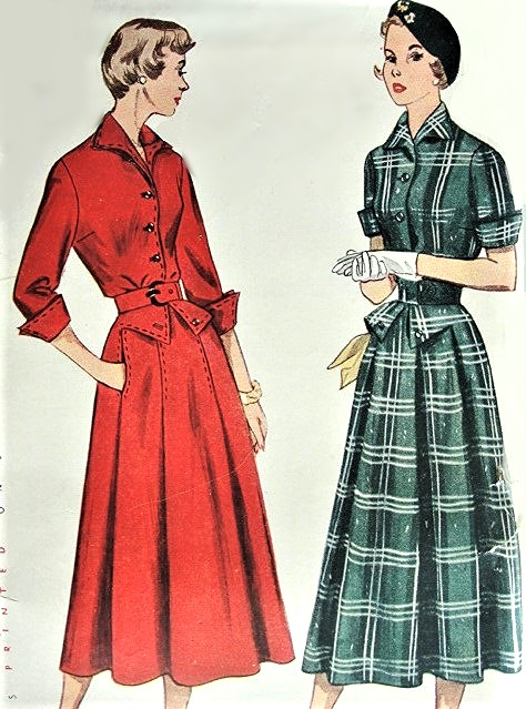 1940s STYLISH Tailored Dress Pattern SIMPLICITY 3036 Classy Style Details Day or After 5 Bust 32 Vintage Sewing Pattern Still Sealed With Higbee Co Label