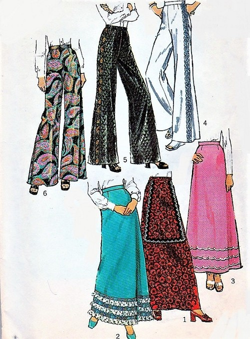 Retro 70s PALAZZO Pants and Maxi Skirt Pattern SIMPLICITY 5361 Day ...