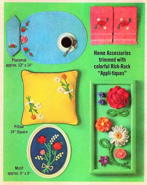 LOVELY 1960s SIMPLICITY 6805 Pattern Home Accessories Trimmed With ...