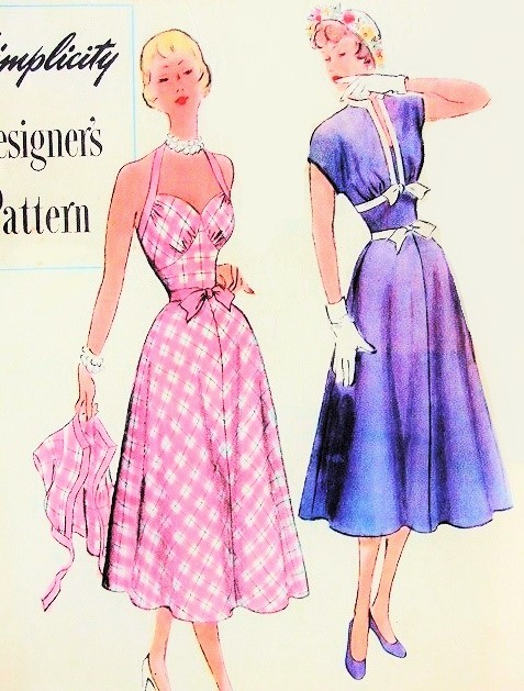 1950s Beautiful Sundress And Bolero Jacket Pattern Simplicity