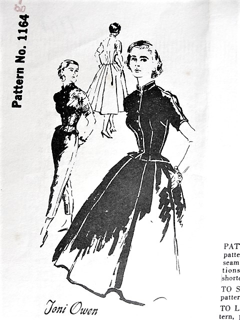 1950s STUNNING Toni Owen Full Skirt, Jacket and Slim Pants Pattern SPADEA 1164 Perfect Weekend Wardrobe Day or Evening Bust 34 Vintage Sewing Pattern
