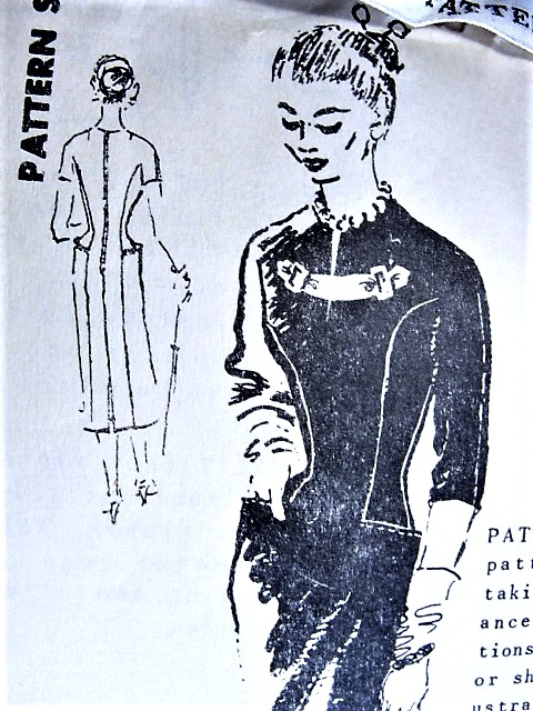 1950s STYLISH Slim Day or Cocktail Dress Pattern SPADEA 291 International Designer Michael Paul Bust 35 Vintage Sewing Pattern FACTORY FOLDED + Rare Sew in Label