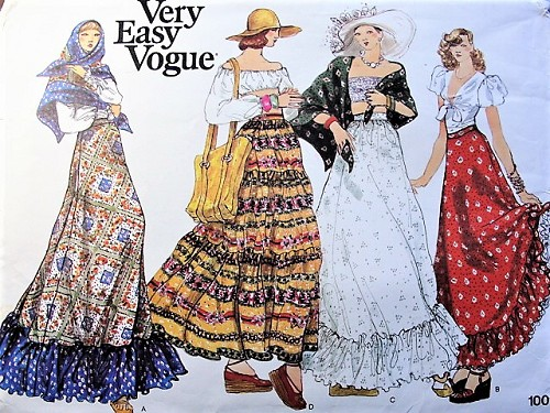 1970s Peasant Bohemian Romantic MAXI Skirts and Shawl Pattern Very ...