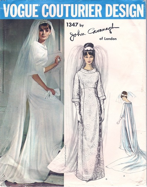 1960s Wedding Dress Bridal Gown Pattern Vogue Couturier Design 1347 ...