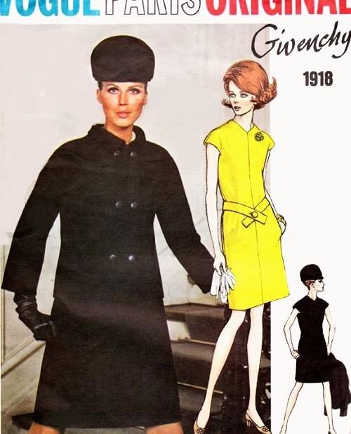 1960s Givenchy Dress And Jacket Pattern Vogue Paris Original 1918