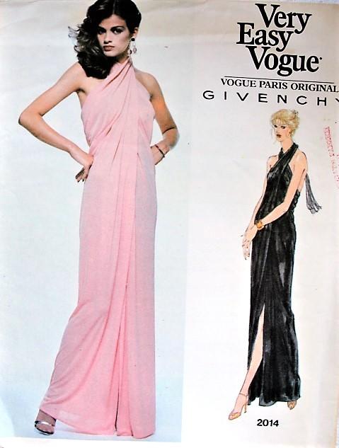 1970s GORGEOUS Givenchy Evening Gown Pattern VOGUE Paris Original ...