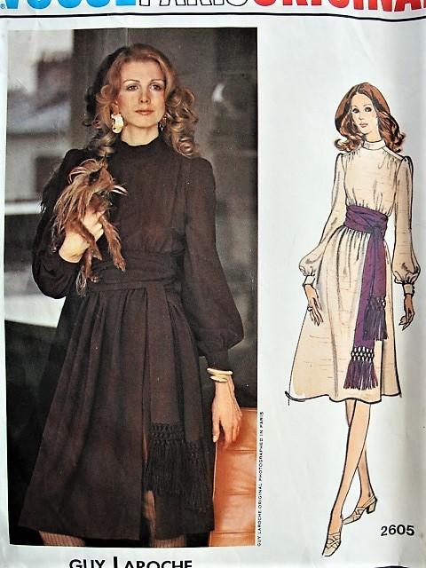 1970s BOHO Dress with Fringed Sash Vogue Paris Original 2605 Retro ...