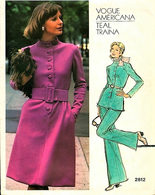 1970s RETRO Teal Traina Dress,Tunic and Pants Pattern VOGUE 2812 Americana Stylish Design Bust 38 Vintage Sewing Pattern FACTORY FOLDED