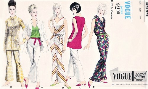 1960s FABULOUS Lounging Pajamas Pyjamas PJs Hostess Jumpsuit Nehru Rajah Jacket Pattern VOGUE Special Design 6494 Casual Day or Evening Chic Bust 32 Vintage Sewing Pattern FACTORY FOLDED