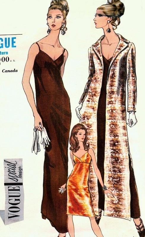1960s ELEGANT Evening Dress and Coat Pattern VOGUE Special Design ...
